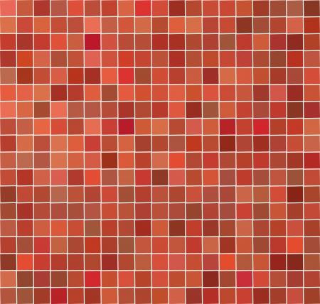 red pink orange tile imosaic backdrop Stock Vector - 14809308
