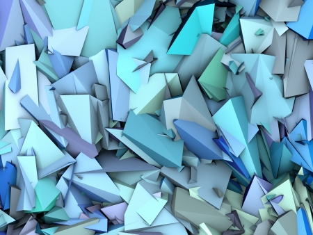 fragmentation: 3d abstract fragmented pattern blue purple backdrop