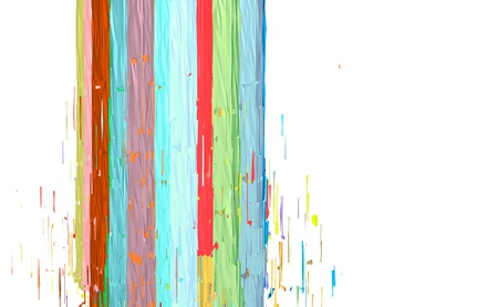 fragmentation: abstract fragmented stroke pattern in multiple color