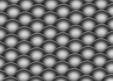 argentum: isometric 3d render of silver chrome balls