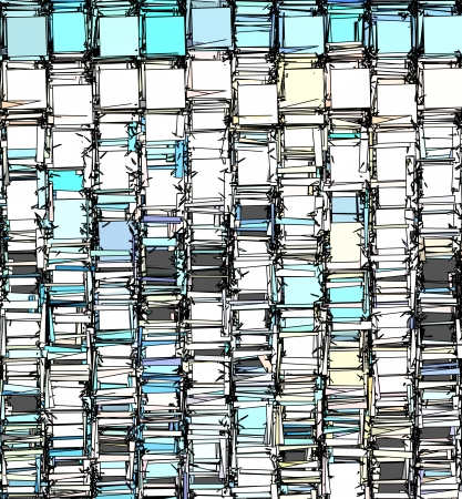 abstract fragmented backdrop pattern in blue gray white photo