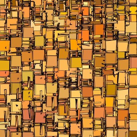 colorized: abstract fragmented backdrop pattern in orange