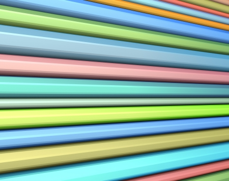 beveled: backdrop of beveled striped surface in rainbow color