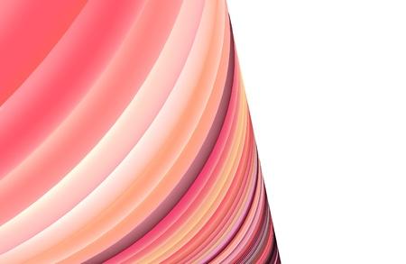 3d pink curcular torus shape on white Stock Photo - 16637704