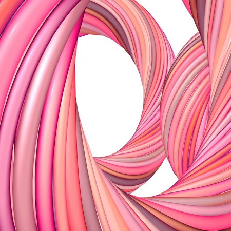 range of motion: 3d abstract render pink red organic wave pattern