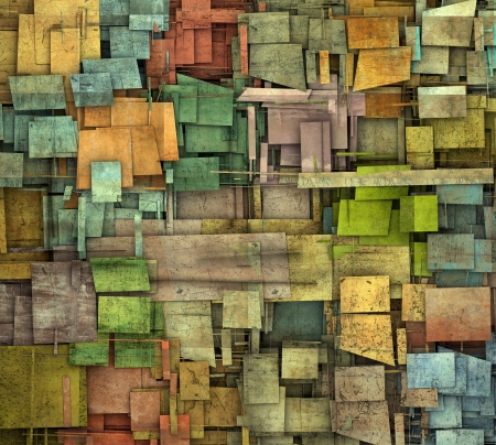 fragmented: fragmented multiple color square tile grunge pattern backdrop