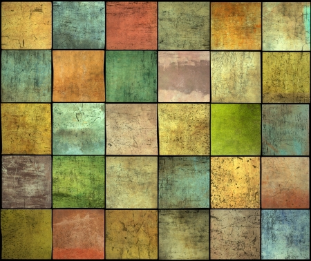 abstract multiple color square tile grunge pattern backdrop photo