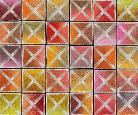 3d cross abstract graffiti spray tag backdrop in multiple color Stock Photo - 17438949