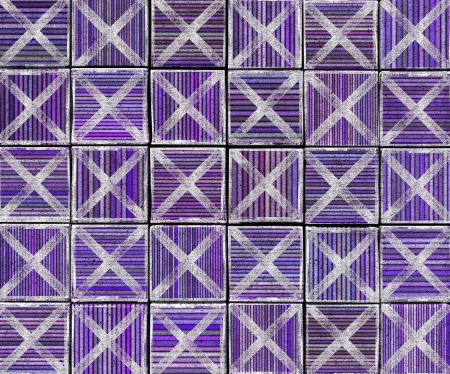 3d cross abstract striped tile backdrop in purple lavender Stock Photo - 17438947