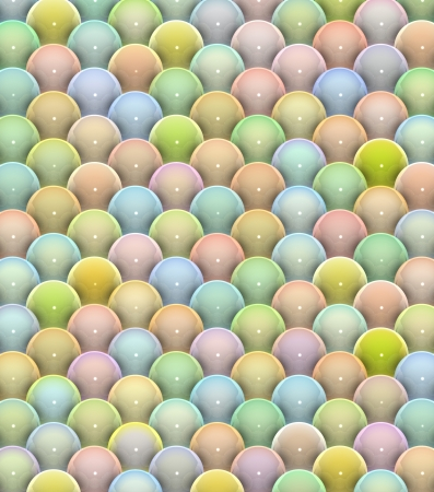 3d glossy reflective balls pattern in multiple rainbow color photo