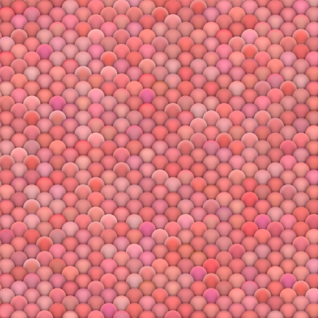 3d render of fluffy balls in multiple pink red colors photo