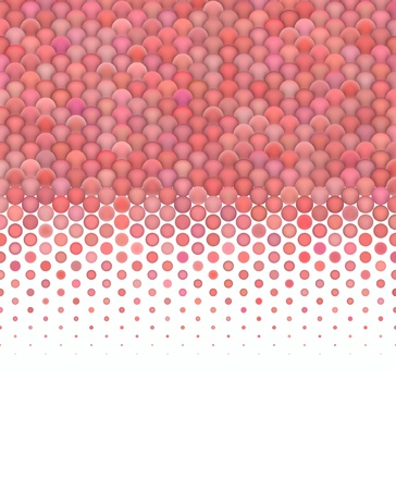 3d abstract render of gradient fluffy pink red bubble pattern photo