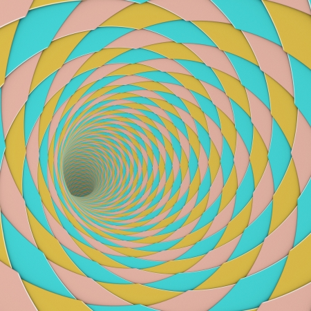 3d render diagonal tiled tunnel pink blue yellow photo