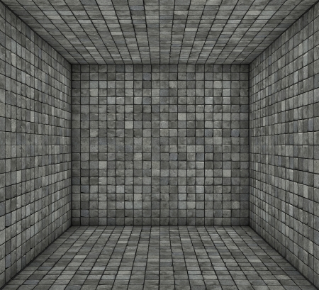 gray black mosaic square tiled empty space photo