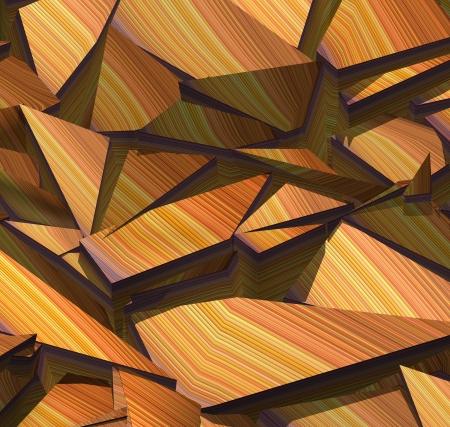 fragmentation: 3d fragmented stripe pattern orange purple backdrop Stock Photo