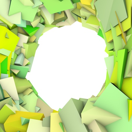 colorized: circular abstract green spiked shape on white