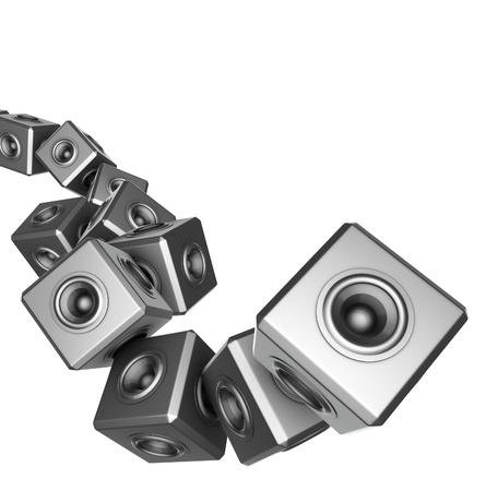 sono: 3d sound system woofer abstrait dj deejay set