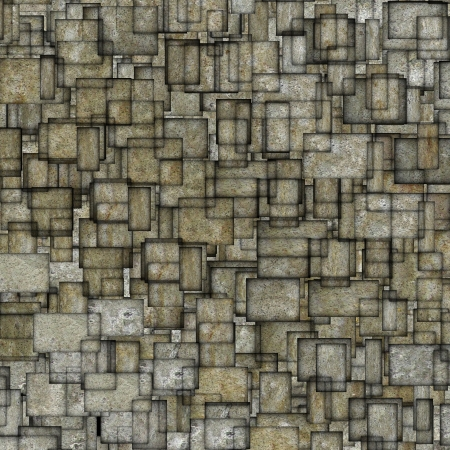 fragmented: grunge mosaic tile fragmented backdrop in gray