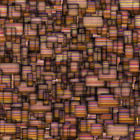 fragmented: mosaic tile fragmented backdrop in pink orange Stock Photo