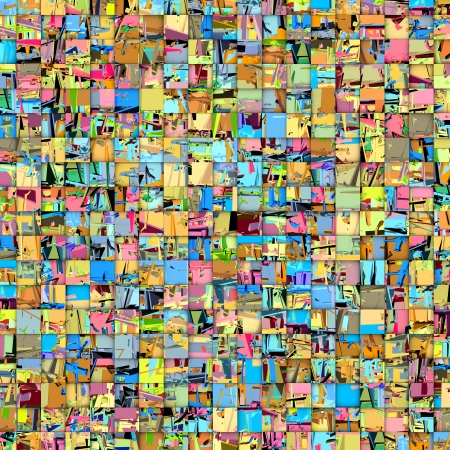 abstract tile mosaic backdrop in multiple color photo