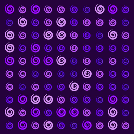 3d glossy purple lavender Ionic swirl curl pattern Imagens