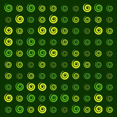 3d glossy green yellow Ionic swirl curl pattern