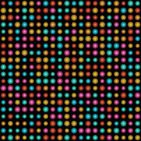 3d backdrop multi color circle pattern on black