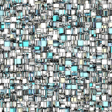 abstract tile mosaic backdrop in blue white