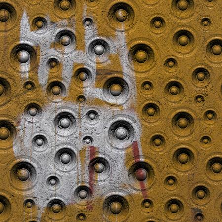 sono: 3d composition grunge syst�me de son ancienne haut-parleur Banque d'images