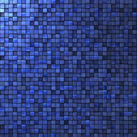 mosaic wall in cobalt blue