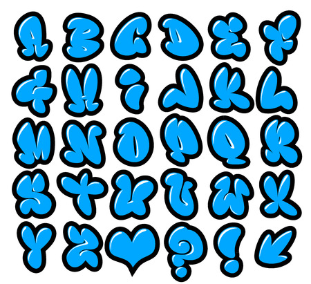 graffiti bubble vector fonts with gloss and outline Reklamní fotografie - 38791664