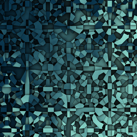 abstract fragmentation geometric in blue backdrop Stock Photo