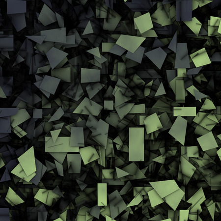 fragmentation: gray green 3d abstract fragmentation geometric