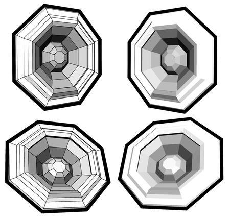 sono: woofer de haut-parleurs du syst�me sonore r�alis� avec des polygones