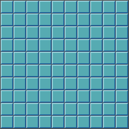 kitchen shower: stylized wall with blue tiles pattern Illustration