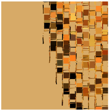 exploded: abstract fragmented backdrop pattern in orange beige