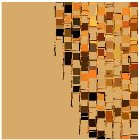 fragmentation: abstract fragmented backdrop pattern in orange beige