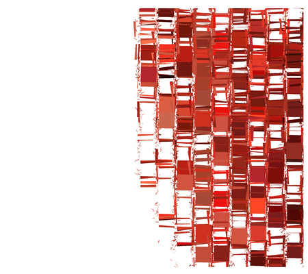 squashed: Red fragmented abstract pattern over white Illustration