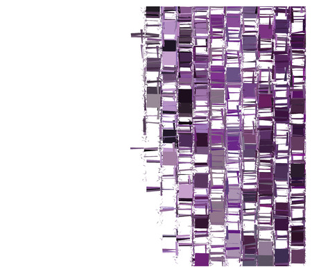 squashed: purple fragmented abstract pattern over white Illustration