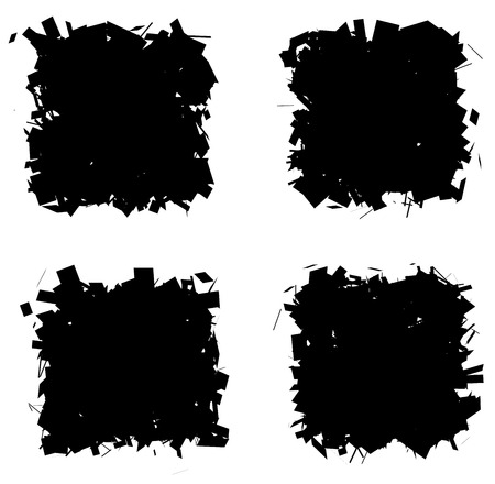 splinter: fragmented black silhouette collection square frame over white