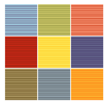 grouping: striped tube pattern collection in different color