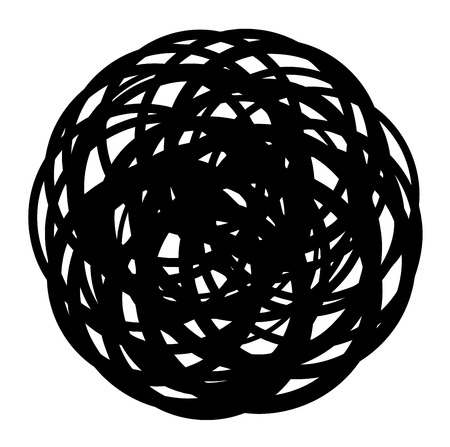 coiled: abstract coiled wire icon shape on white