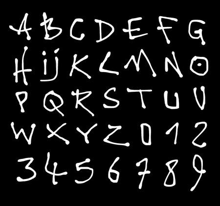 alfabet: liquid font and number alphabet over black