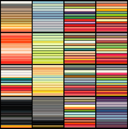 grouping: striped tube patterns in rainbow color over black