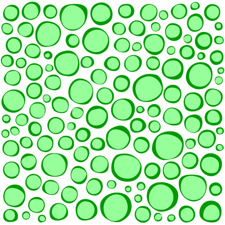 grouping: irregular circles collection in green over white