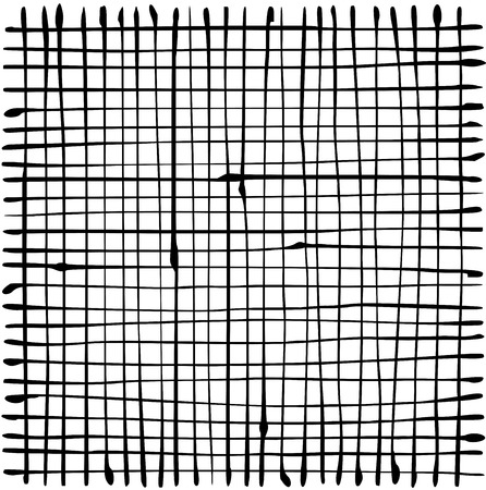 liquid organic black stripe grid pattern over white