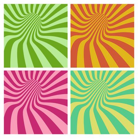 stripe pattern: vortex tunnel in pi� del modello della banda di colore Vettoriali