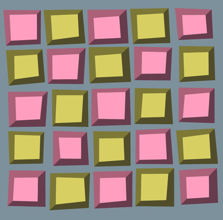 tile pattern: irregular tile pattern frames in green pink over gray