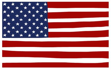 the americas: america USA stars and stripes flag stylized