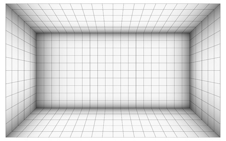 subdivision: empty futuristic room with shaded wall and subdivision